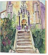 Stairway To Heaven In Llansa Wood Print