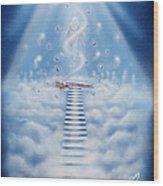 Stairway To Heaven Wood Print by Nickie Bradley