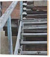 Stairway To Humdrum Wood Print