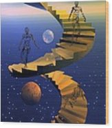 Stairway To Imagination Wood Print