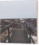 Stairway To The Atlantic Wood Print