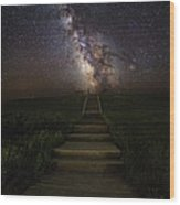 Stairway To The Galaxy Wood Print