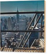 Stairways On Top Of Rockefeller Center Wood Print by Amy Cicconi