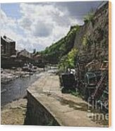 Staithes Harbour Wood Print