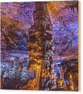 Stalactite Column Wood Print