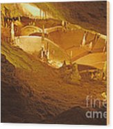 Stalactites And Stalagmites In Cave Ibiza Wood Print