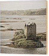 Stalker Castle Vintage Wood Print
