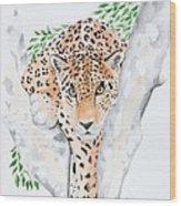 Stalker In The Trees Wood Print