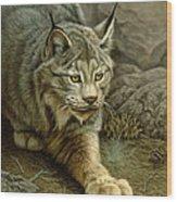 Stalking Lynx Wood Print