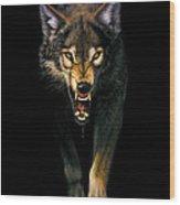 Stalking Wolf Wood Print