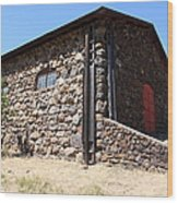 Stallion Barn At Historic Jack London Ranch In Glen Ellen Sonoma California 5d24580 Wood Print by Wingsdomain Art and Photography