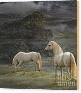 Stallions Of The Gods Wood Print