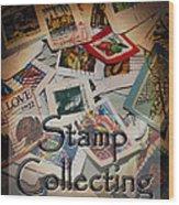 Stamp Colleting Wood Print