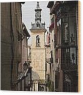 Stamped Bell Tower Wood Print