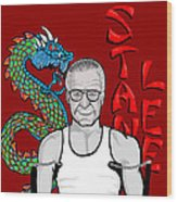 Stan Lee Wood Print by Gary Niles