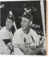 Stan Musial And Ted Williams Wood Print
