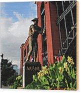 Stan Musial Statue Wood Print
