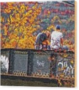 Stand By Me Impasto Wood Print