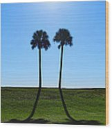 Stand By Me - Palm Tree Art By Sharon Cummings Wood Print