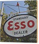 Standard Esso Dealer Wood Print