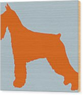 Standard Schnauzer Orange Wood Print