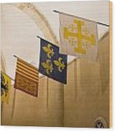 Standards Of The Knights Of The Templar Wood Print