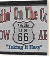 Standin' On A Corner In Winslow Arizona Wood Print by Christine Till