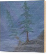 Standing Alone Wood Print by Robert Meszaros