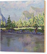 Standing Guard Over Yosemite Valley Wood Print