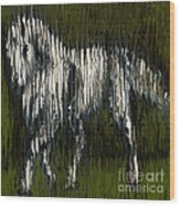 Standing Horse Profile Wood Print
