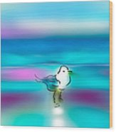 Standing Seagull Wood Print