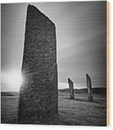Standing Stones Of Stenness Wood Print