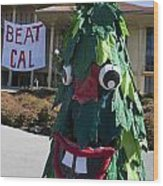 Stanford Tree Mascot Beat Cal Wood Print