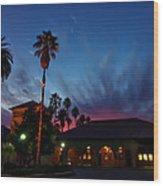 Stanford University Quad Sunset Wood Print