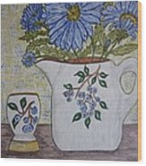 Stangl Blueberry Pottery Wood Print