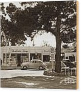 Stanifords Drug Store Ocean Ave.cor San Carlos Carmel Circa 1941 Wood Print
