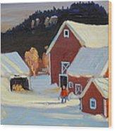 Stanley Kay Farm Wood Print
