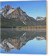 Stanley Lake Sawtooth Mountains Wood Print