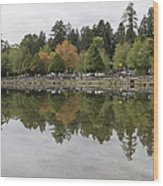 Stanley Park In Vancouver Bc Canada Wood Print