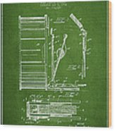 Stanton Bass Drum Patent Drawing From 1904 - Green Wood Print