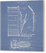 Stanton Bass Drum Patent Drawing From 1904 - Light Blue Wood Print