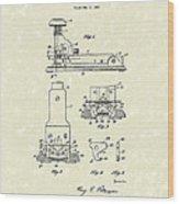 Stapler 1932 Patent Art Wood Print