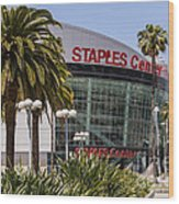 Staples Center In Los Angeles California Wood Print