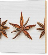 Star Anise Fruits Wood Print by Fabrizio Troiani