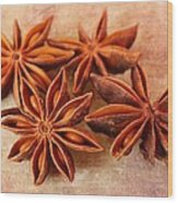 Star Anise Wood Print