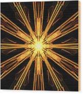 Star Burst Wood Print