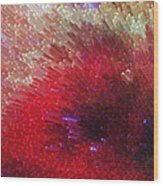 Star Burst - Red Abstract Art By Sharon Cummings Wood Print