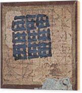 Star Chart Faded Wood Print