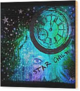 Star Child - Time To Go Home Wood Print