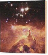 Star Cluster Pismis 24 Above Ngc 6357 Wood Print